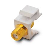 KS-03 Face plate RJ45 insert f-81  connector(gold plating)