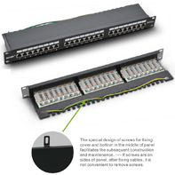 P200-24 CAT 6A shielded  patch panel